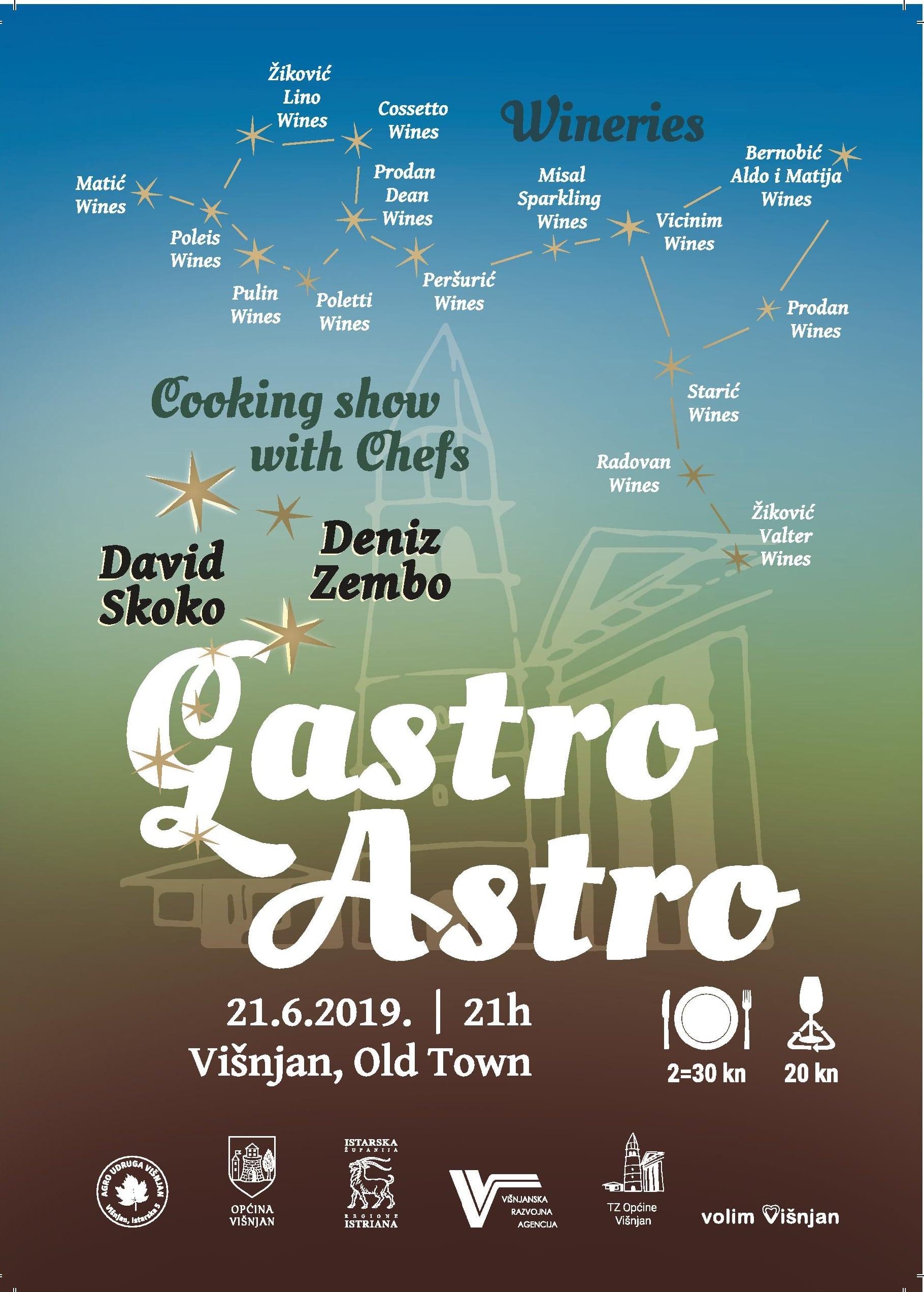 Gastro Astro – Višnjan – 21.06.2019. – 21h